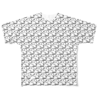 どどど素人のどどねこ-びっしり- Full graphic T-shirts