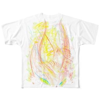 すばしっこいリスT Full graphic T-shirts