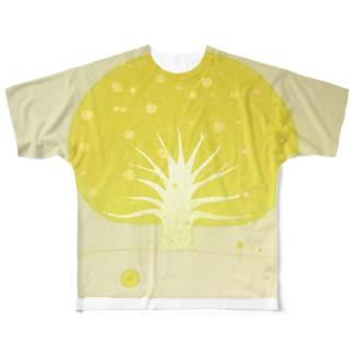 「太陽も月も沈まない場所、宇宙ノ樹」 Full graphic T-shirts