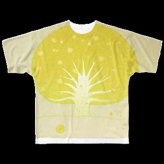 sayacompanyの「太陽も月も沈まない場所、宇宙ノ樹」 Full graphic T-shirts