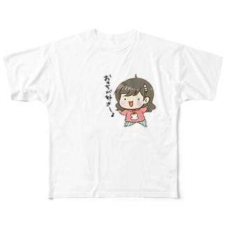 もっちん擬人化 Full graphic T-shirts