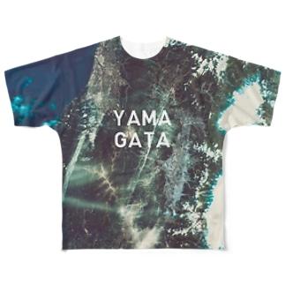 山形県 西村山郡 Tシャツ 両面 Full graphic T-shirts