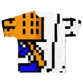 虚無僧(ドット) Full graphic T-shirts