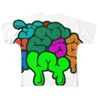 脳汁ぴゅっ Full graphic T-shirts