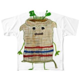 ズタ袋イヌ Full graphic T-shirts