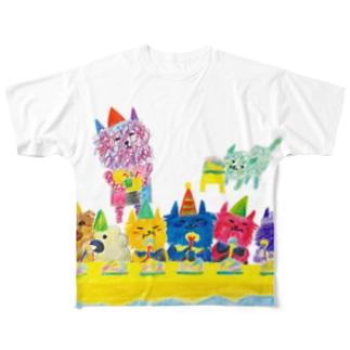 グシャグシャの仲間たち Full graphic T-shirts