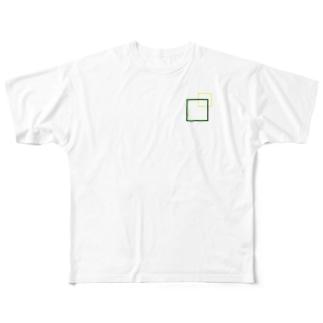 シンプルに四角でデザッちゃったよ! Full Graphic T-Shirt