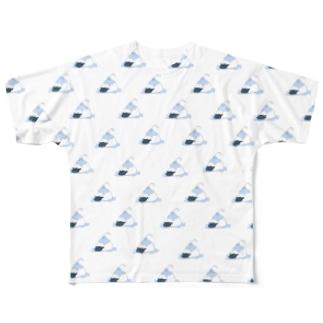 ぶるーわいはーかきごおりヒツジ Full graphic T-shirts