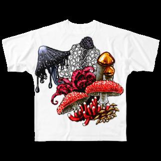 ササカワとモヤのkinoko Full graphic T-shirts