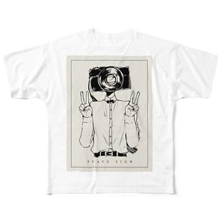 コンデジくんのTシャツ Full graphic T-shirts