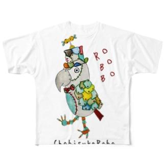 ROBOBO ヨウムのちょびすけロボ  Full graphic T-shirts
