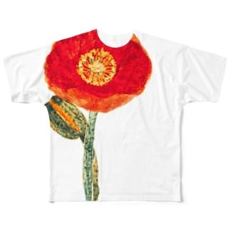ひなげし Full graphic T-shirts