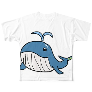 WHALE Full graphic T-shirts