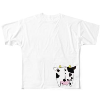 牛尻 小 Full graphic T-shirts