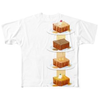 本日のハニートースト Full graphic T-shirts