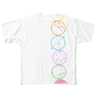 gg アニマルトーテムポール Full graphic T-shirts