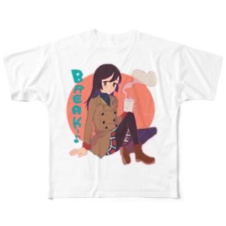 かわいくNight☆ [BREAK] (フルグラフィック・5000円ver) Full graphic T-shirts