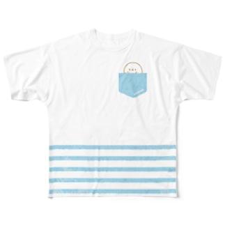 かんザラシ(blue pocket *) Full graphic T-shirts