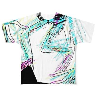 avant-garde swimmer Full graphic T-shirts