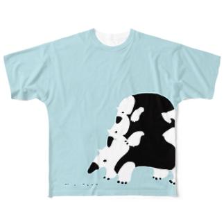 ゴトウミキのアイクイ親子フルグラT Full graphic T-shirts