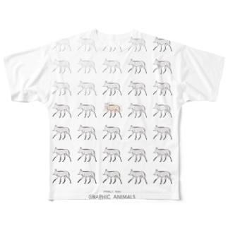 mizusawa model Full graphic T-shirts