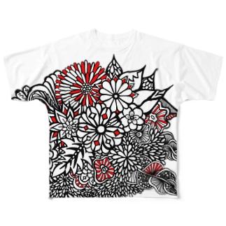 BENITANGLE赤黒* Full graphic T-shirts