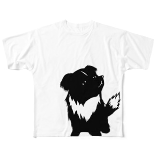 【nina&bart】素バート Full graphic T-shirts