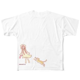 猫との遭遇 Full graphic T-shirts