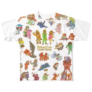 タヌタヌ探偵01 Full graphic T-shirts