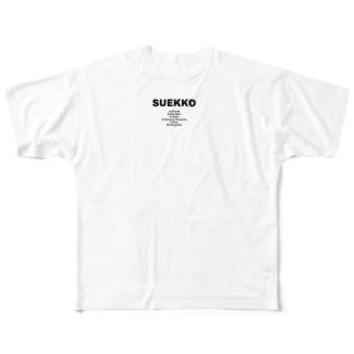 SUEKKO Full graphic T-shirts