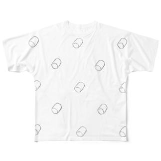 マシュマロ雲 Full graphic T-shirts