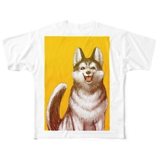 わんこ Full graphic T-shirts