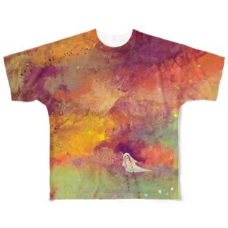 夜明けのおばけが泣いている フルグラフィックTシャツ