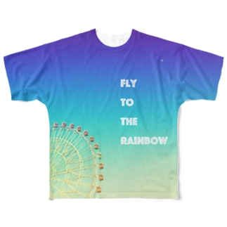 Fly to the rainbow Full graphic T-shirts