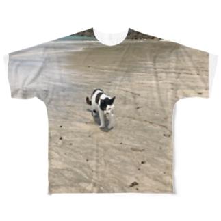 種子島ネコ Full graphic T-shirts