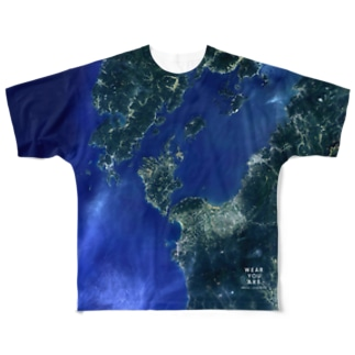 鹿児島県 出水郡 Tシャツ 両面 Full graphic T-shirts
