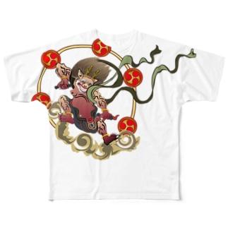 Drecome_Designのraijin Full graphic T-shirts