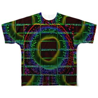 動画はありません(黒) Full graphic T-shirts