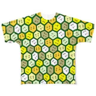 ハニカム【コンガラガル画002】 Full graphic T-shirts