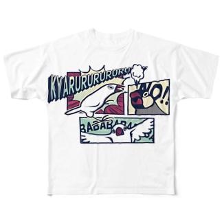 アメコミ文鳥 フルグラフィックTシャツ