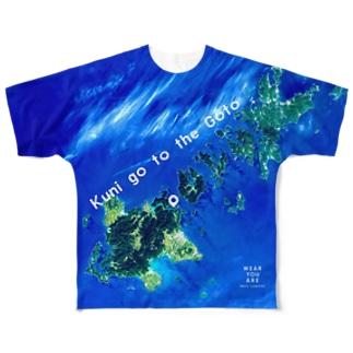 長崎県 五島市 Tシャツ 両面 Full graphic T-shirts