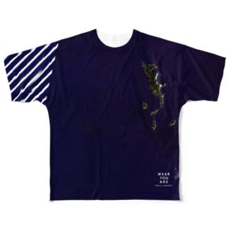 東京都 小笠原村 Tシャツ 両面 Full graphic T-shirts