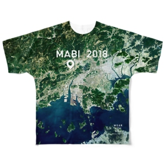 WEAR YOU AREの岡山県 倉敷市 Tシャツ 両面 Full graphic T-shirts