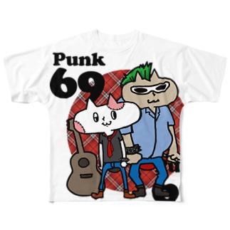 neko★69 (Punk69)  Full graphic T-shirts