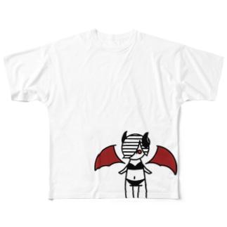 あくまちゃん Full graphic T-shirts