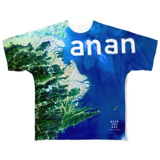 徳島県 阿南市 Tシャツ 両面 Full graphic T-shirts