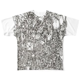 機械柱 Full graphic T-shirts