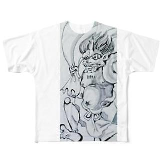 風神背雷神 Full graphic T-shirts