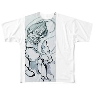 雷神×風神 Full graphic T-shirts