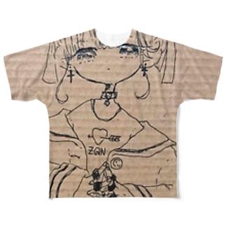 きみのはーとに、ずきゅん Full graphic T-shirts